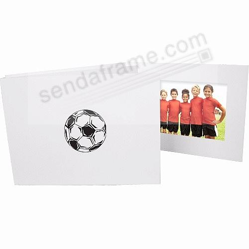 SOCCERBALL Foil<br>on White Cardboard photo folder