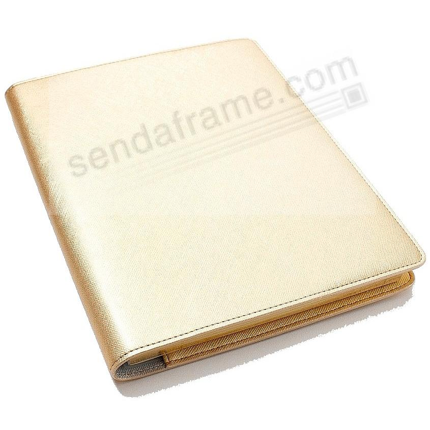 Wire-O-Notebook 9-inch Gold Eco-Leather by Graphic Image™