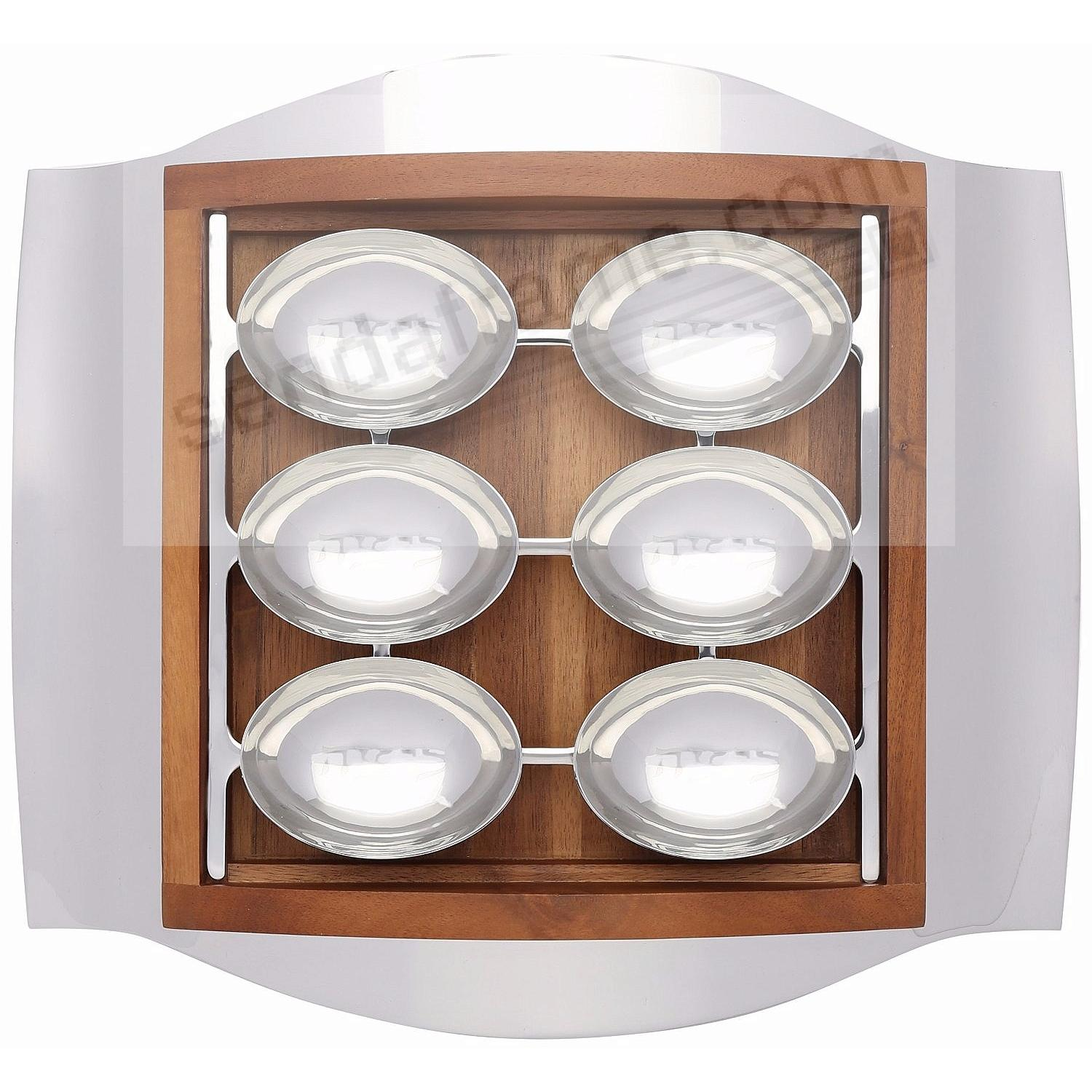 THE WAVE SEDER PLATE crafted by Nambe®