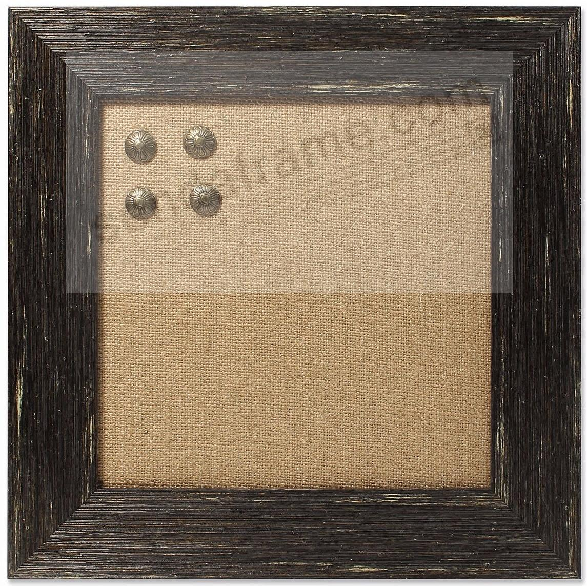 Black Weathered Barnwood Framed Pinboard by Lawrence®
