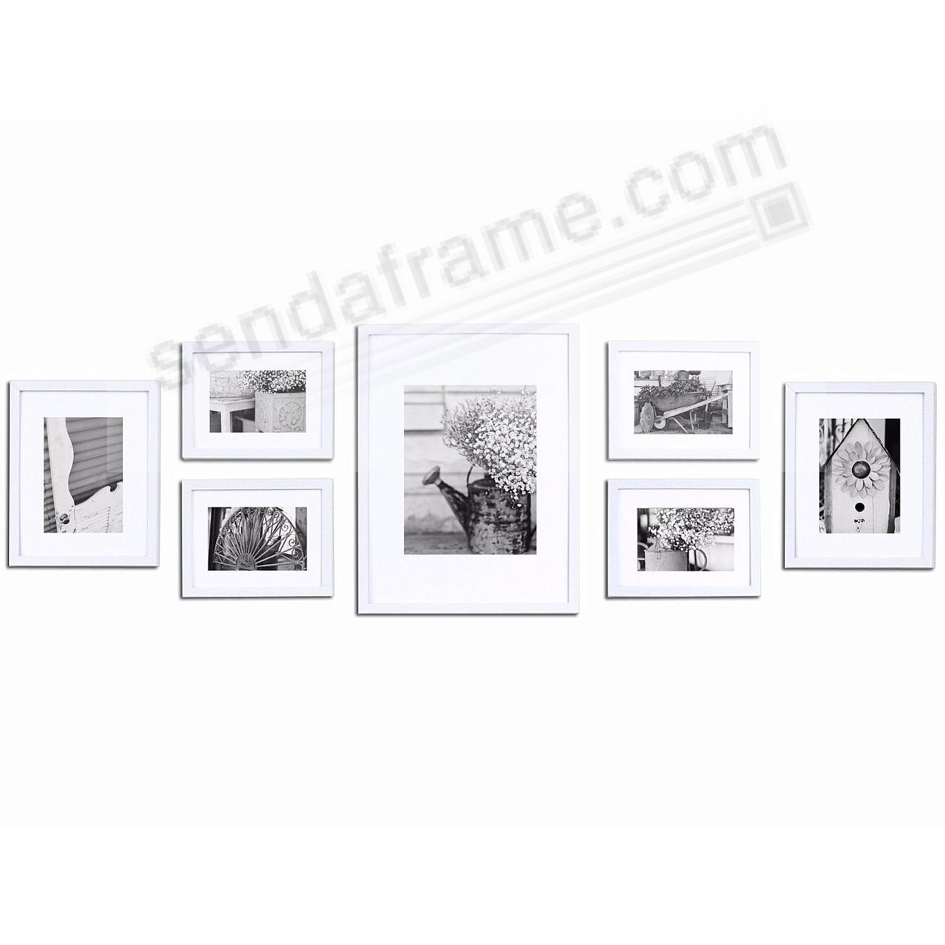 7-Piece White Wood Wall Frame Kit by Gallery Solutions™