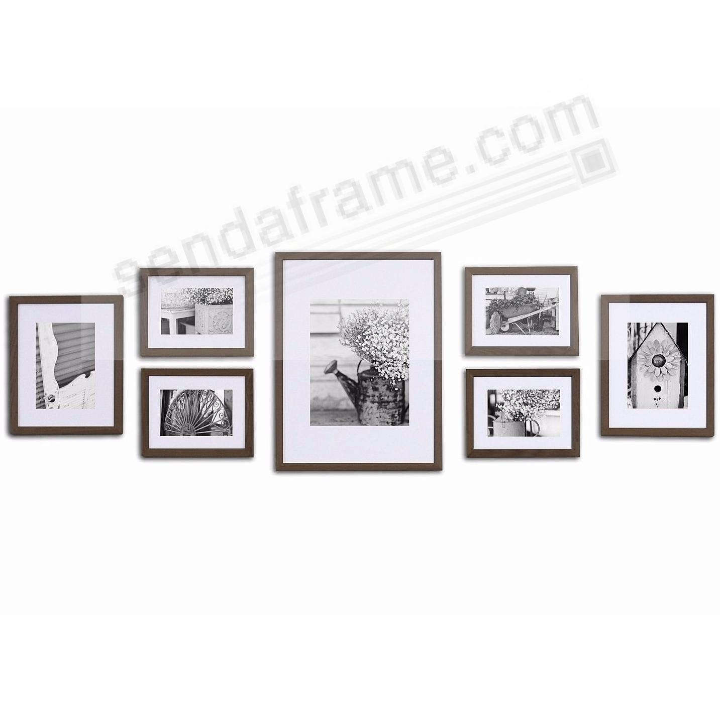 7-Piece Walnut Wood Wall Frame Kit by Gallery Solutions™