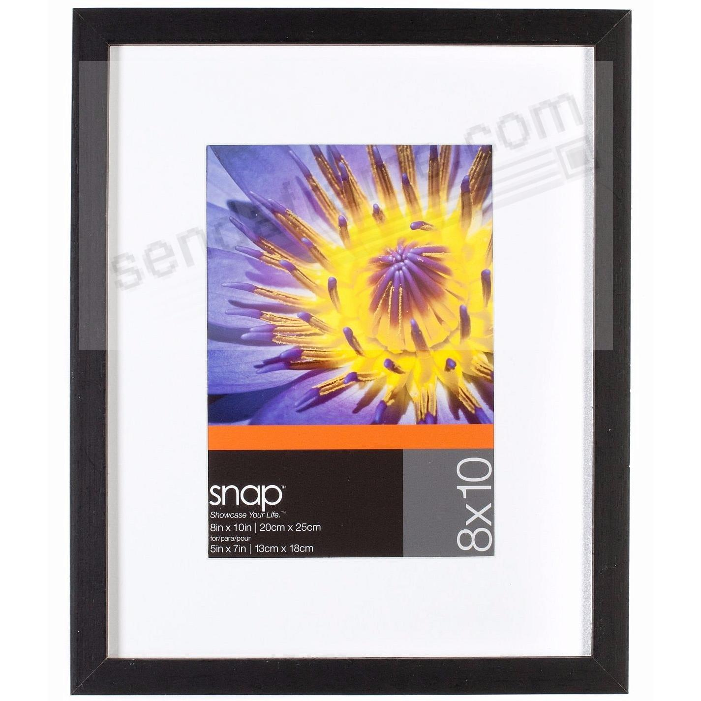 Black Wall + Easel Frame 8x10 matted to 5x7 by SNAP®