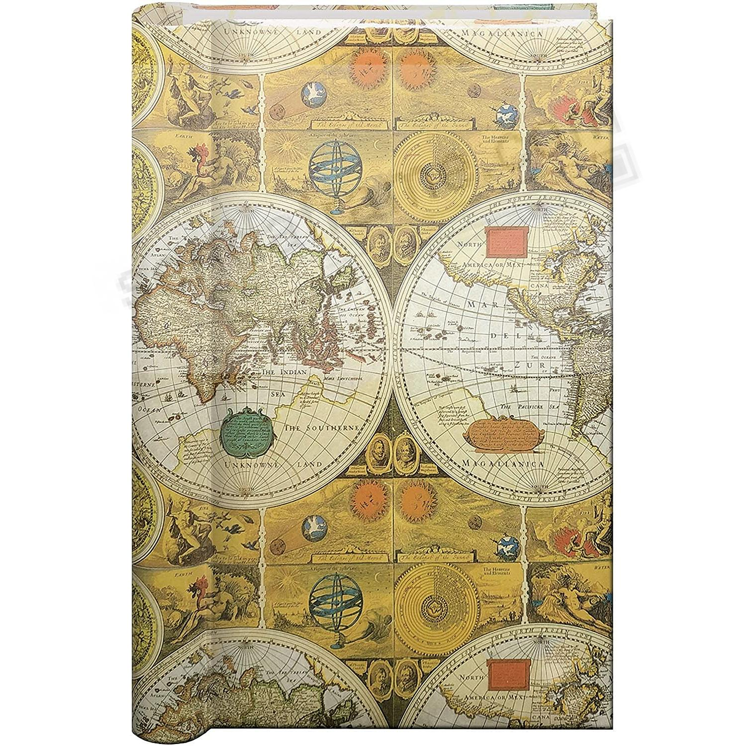 Spiral 3-Up Bi-Directional ANCIENT MAP Memo Pocket album