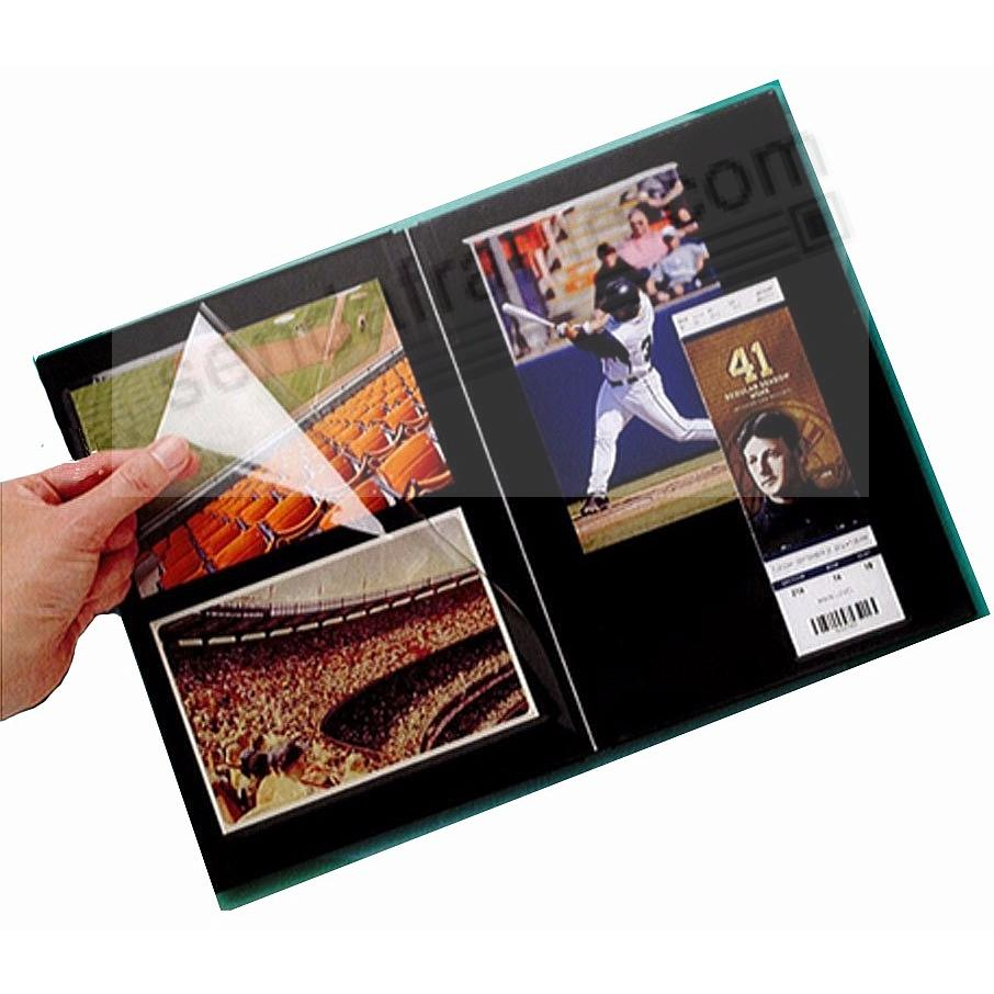 BLACK PROFOLIO PREMIUM FLEX 7½x10½ (medium 2-up) Album for Prints and Collectibles by Itoya®