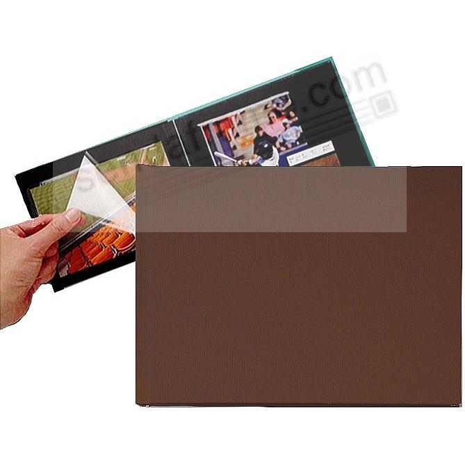 BROWN PROFOLIO PREMIUM FLEX 7½x5½ (small 1-Up) Album for Prints and Collectibles by Itoya®