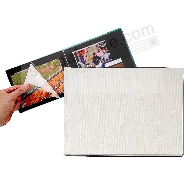 WHITE PROFOLIO PREMIUM FLEX 7½x5½ (small 1-Up) Album for Prints and Collectibles by Itoya®