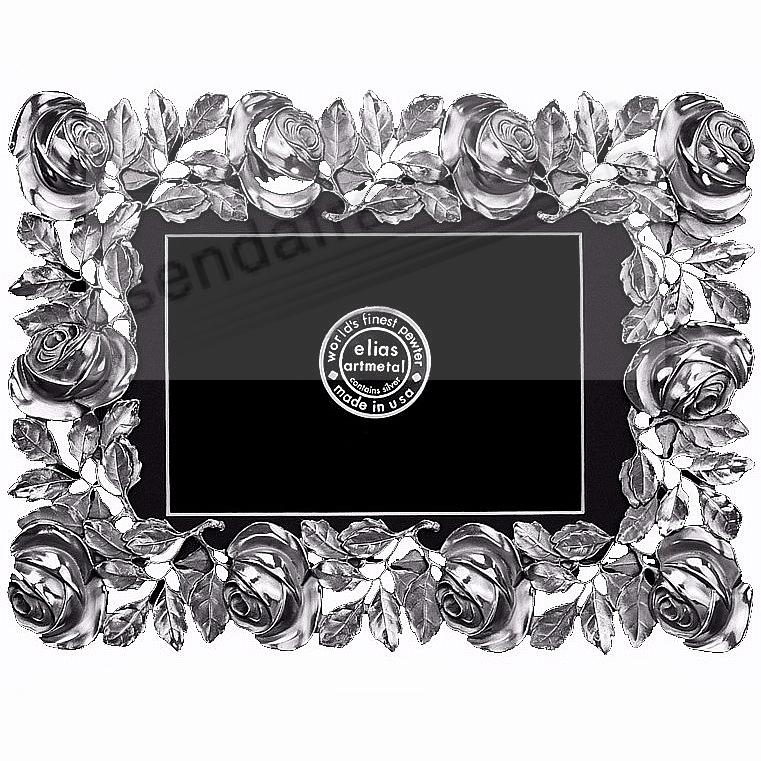 The ROSES FRAME Fine Pewter 5x7 / 4x6 by Elias Artmetal®