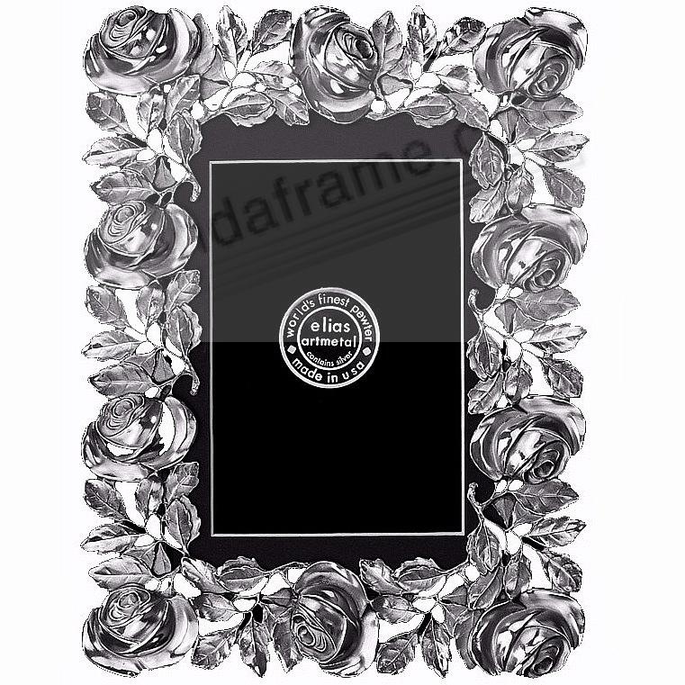 The ROSES FRAME Fine Pewter 9x12/8x10 by Elias Artmetal®