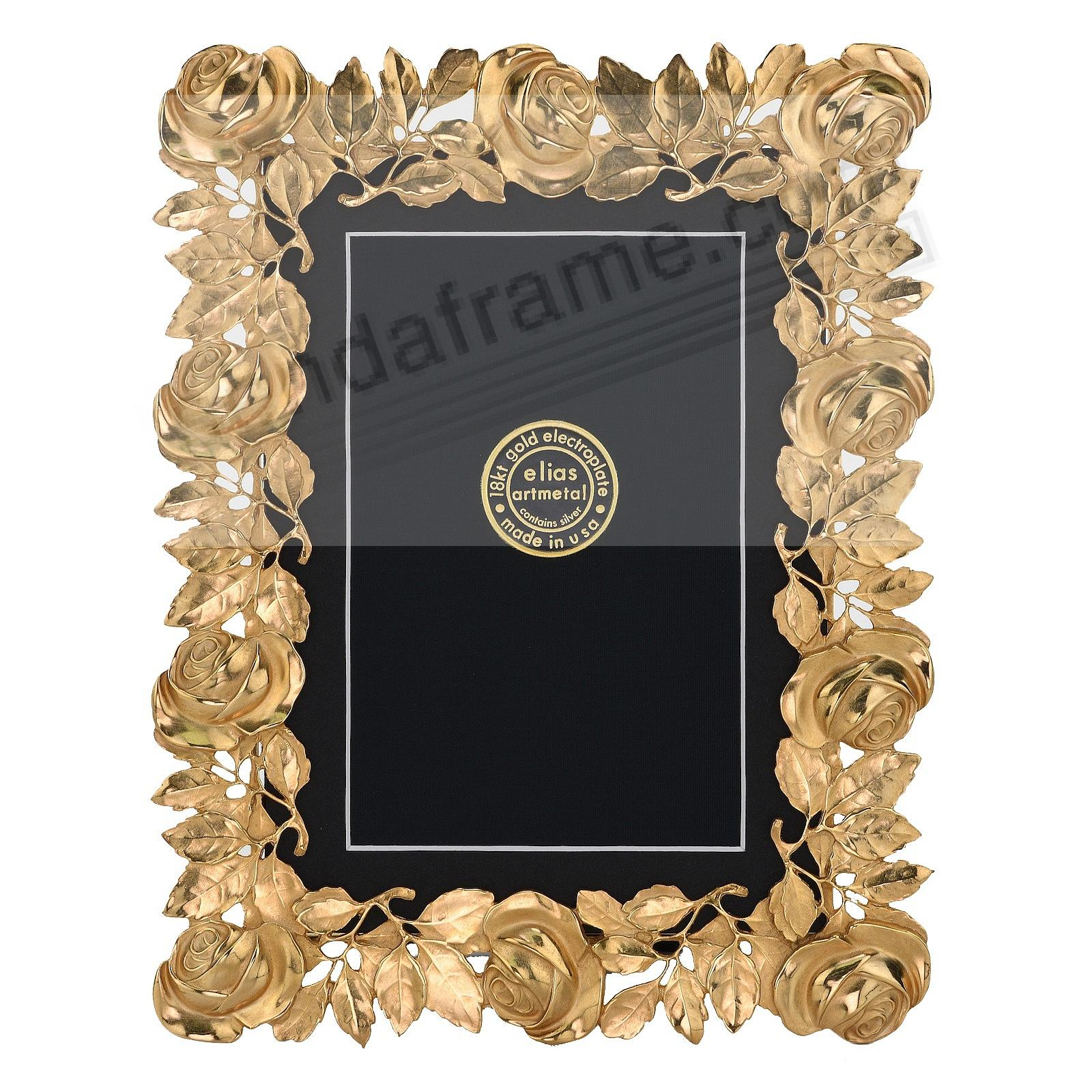 The ROSES FRAME 18kt Gold Vermeil 5x7 / 4x6 by Elias Artmetal®