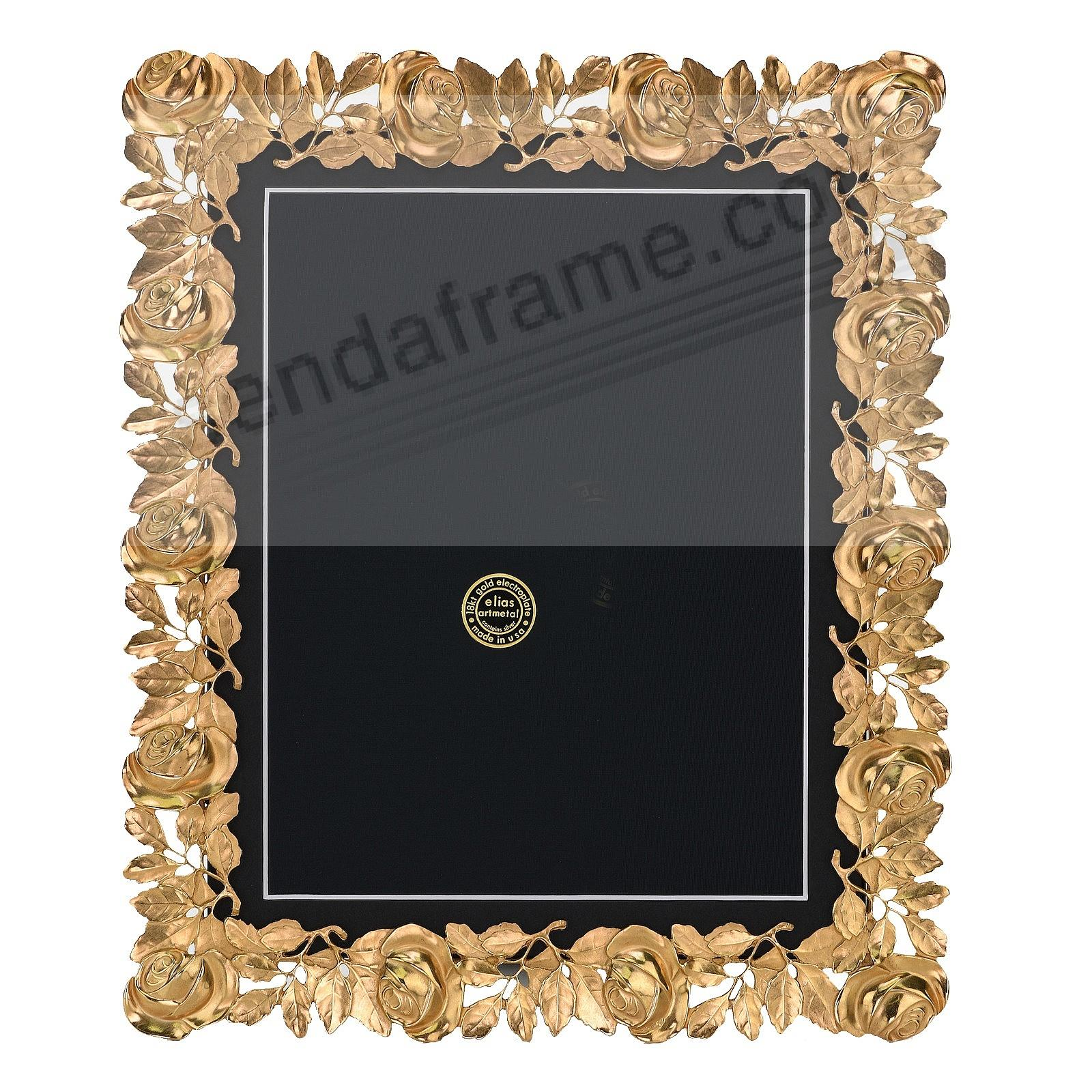 The ROSES FRAME 18kt Gold Vermeil 11x14/8½x11 by Elias Artmetal®
