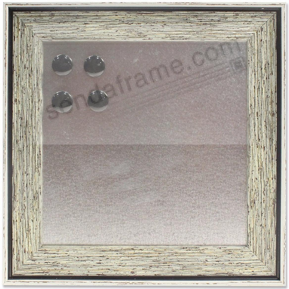 Gray-Blue framed Magnetic Board by Lawrence®