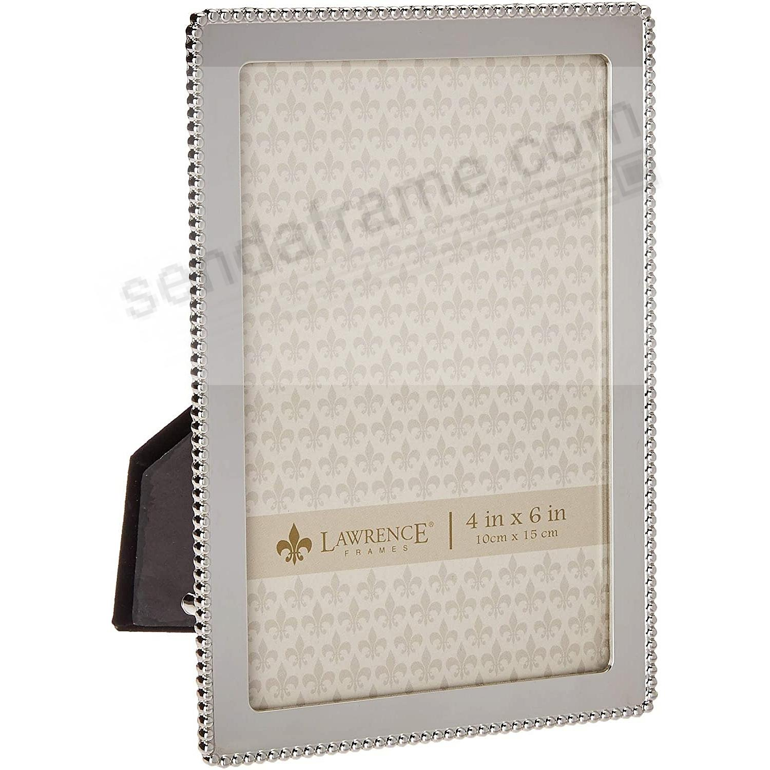 ROUNDED CORNER BEAD Silver Classic 4x6 frame by Lawrence®