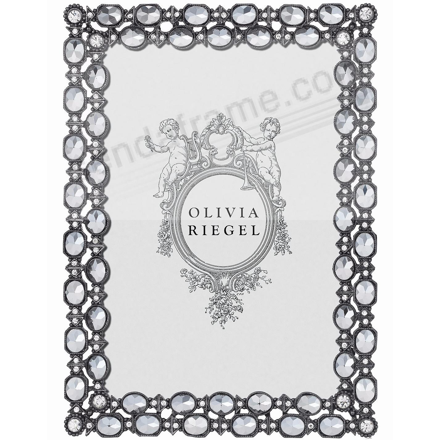 DORIAN Pewter - Hematite - Crystal 4x6 frame by Olivia Riegel®