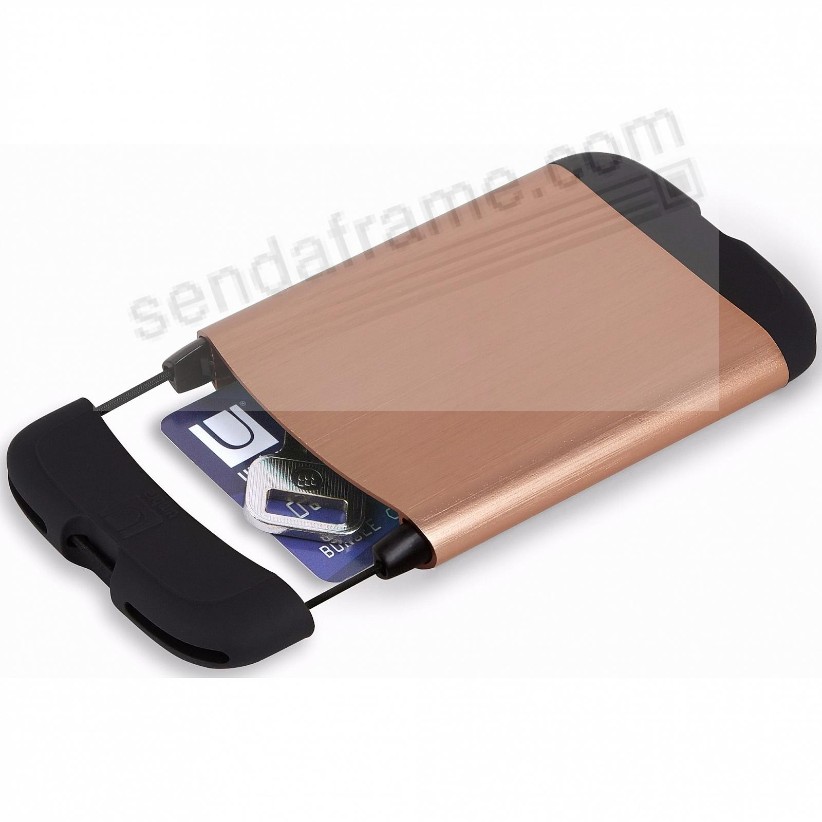 Aluminum BUNGEE CORD Credit Card Case Wallet (Copper) by Umbra®
