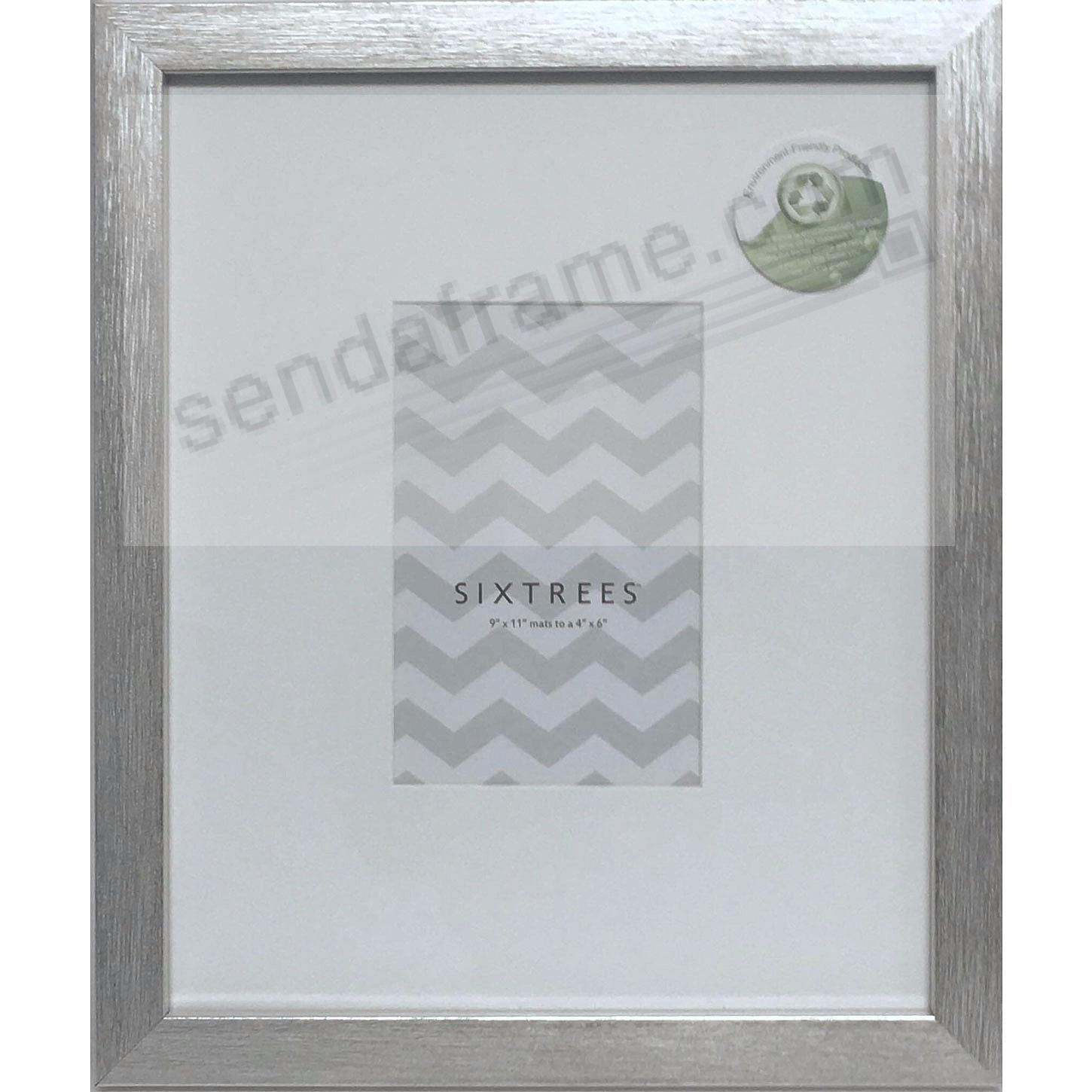 Brushed-Silver MATTED 9x11/4x6 frame by SIXTREES®