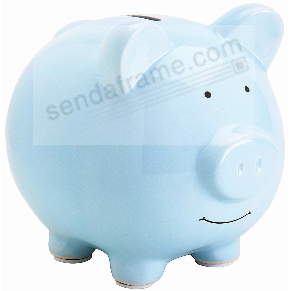 Babyprints® adorable Blue Ceramic PIGGY BANK