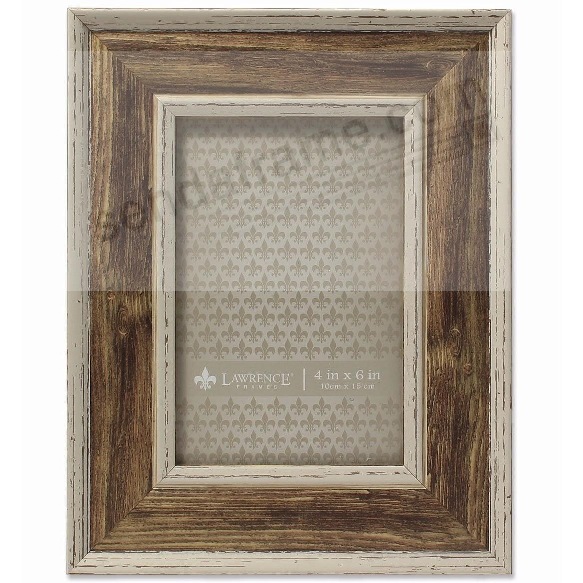 Domed Top WEATHERED WALNUT 4x6 frame by Lawrence®