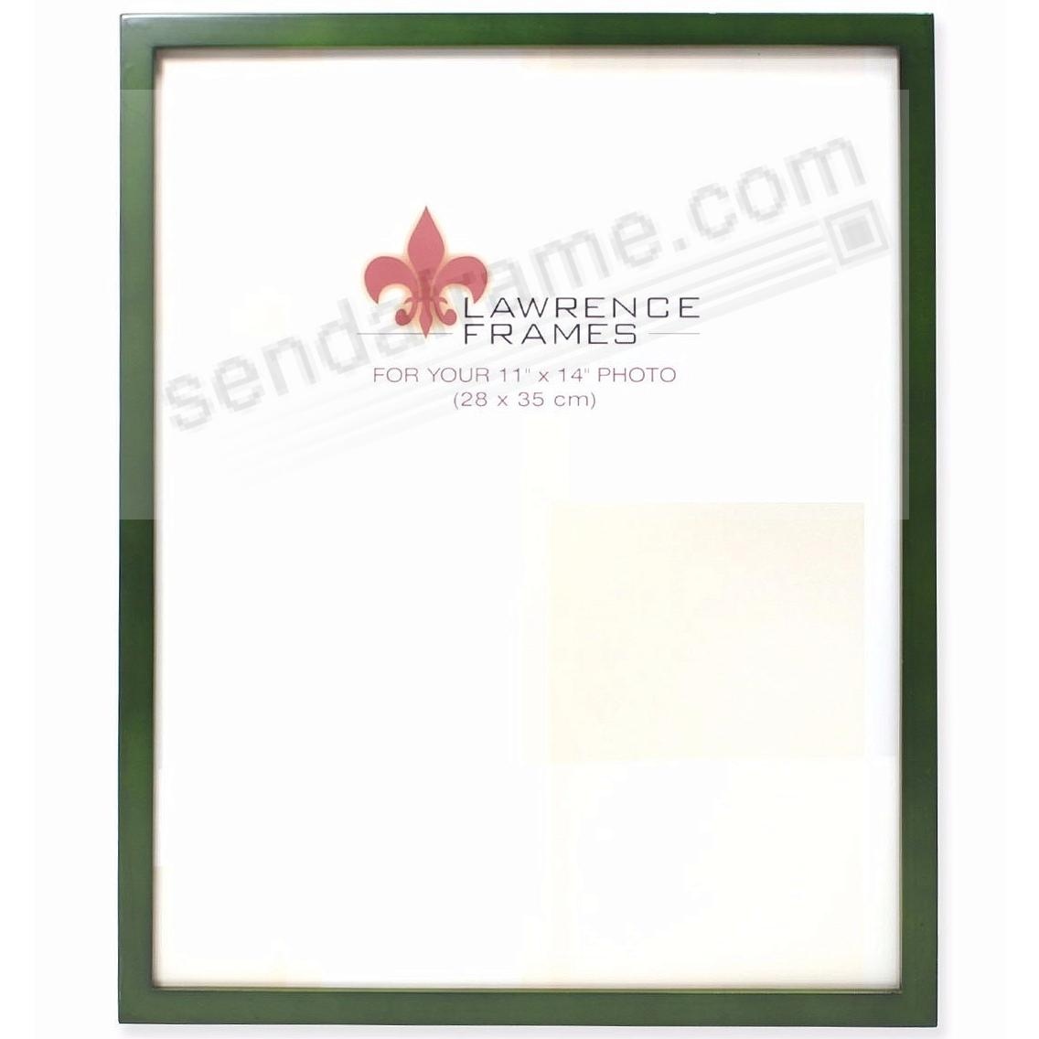 SQUARE CORNER Green Stain classic 11x14 frame by Lawrence Frames®