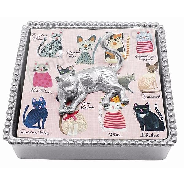 NAPPING CAT Napkin Box by Mariposa®