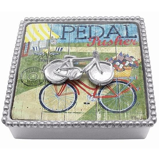 BICYCLE BEADED Napkin Box by Mariposa®