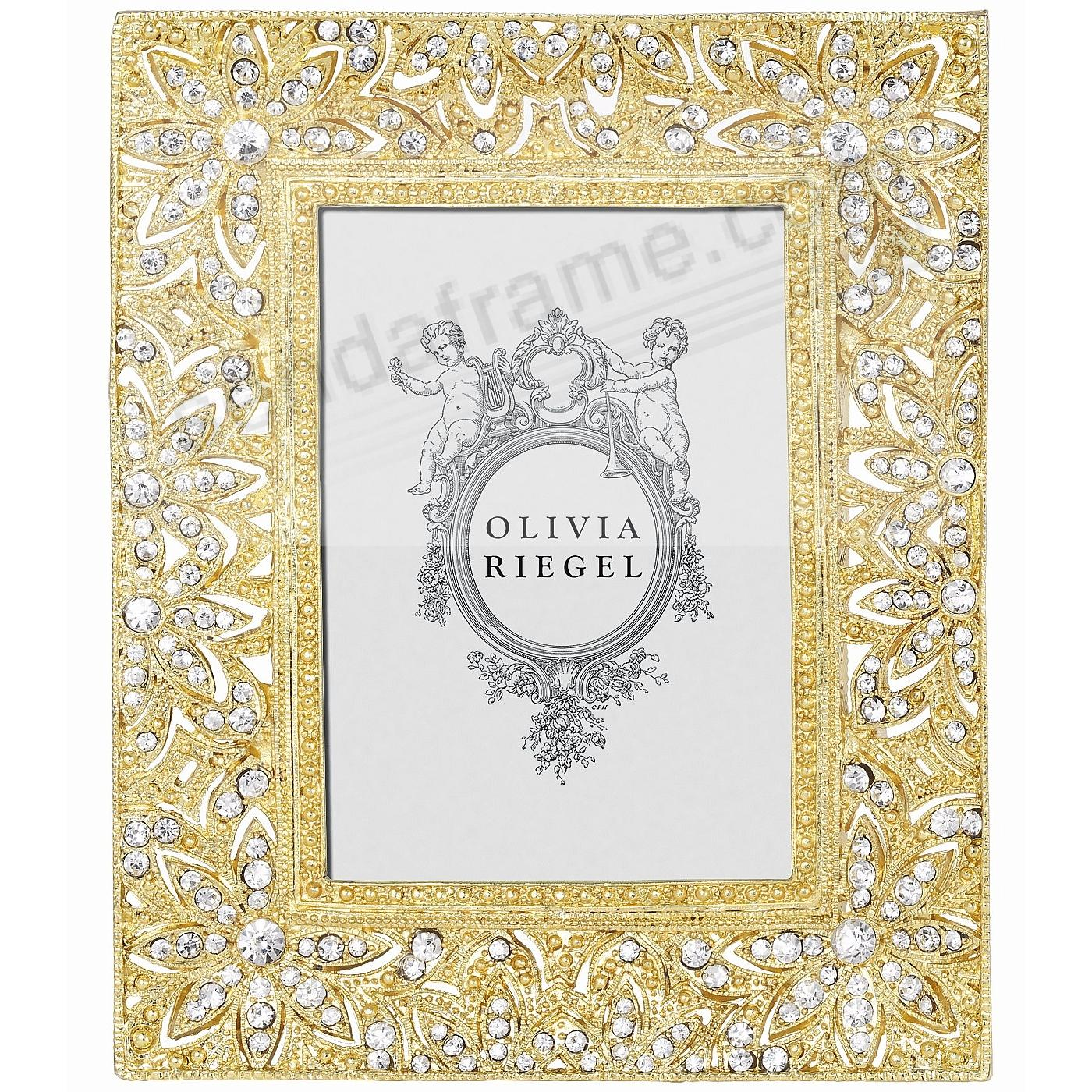 WINDSOR Austrian Crystal 2½x3½ frame Gold by Olivia Riegel®