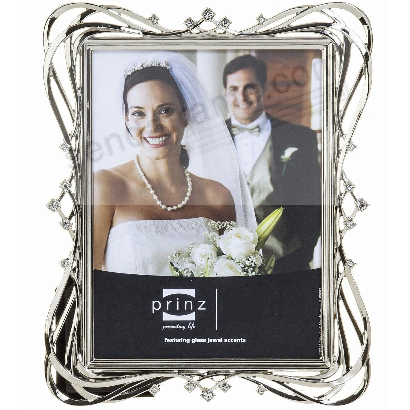 ENCHANTED Silver Jeweled Crystal 8x10 frame by Prinz