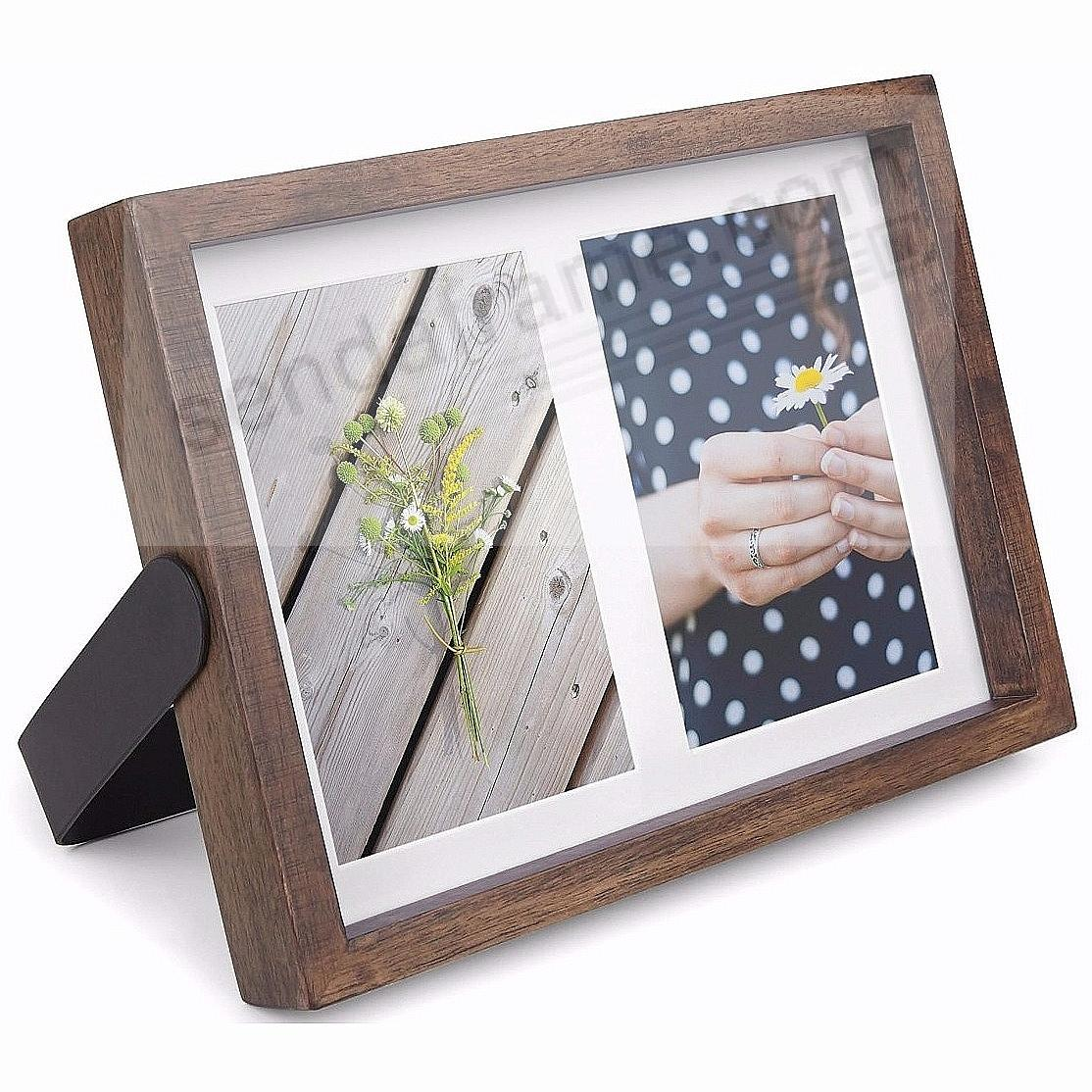 The Original AXIS MULTI 4x6 Double Walnut by Umbra - Picture Frames ...