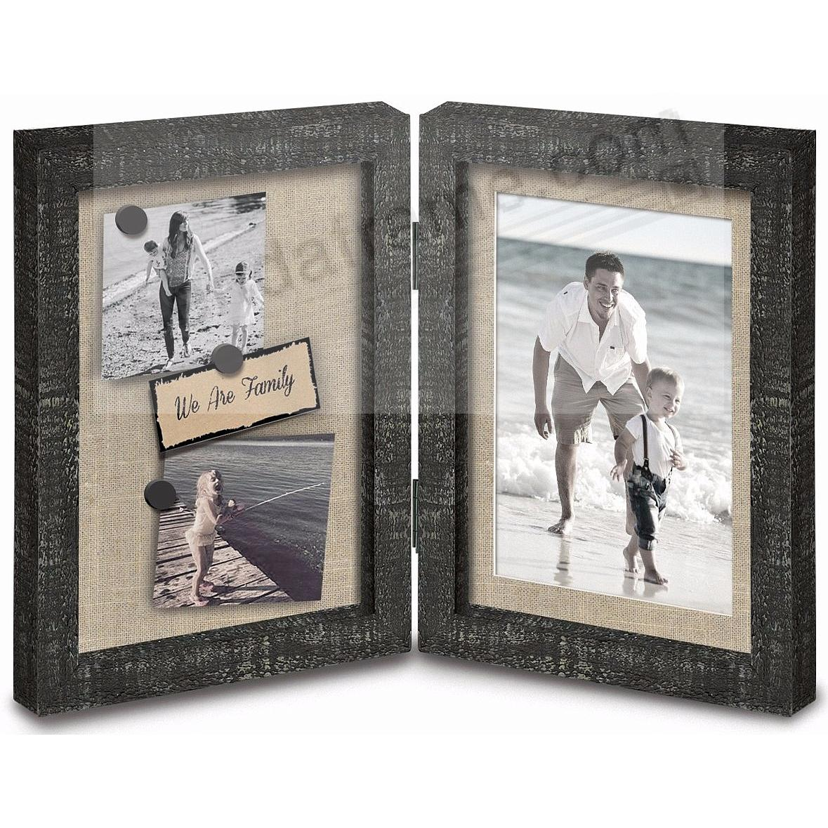 KENDALL Hinged shadowbox in Natural/White/Black Stain by Prinz