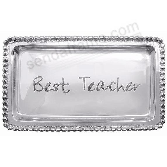 BEST TEACHER STATEMENT 7in TRAY crafted by Mariposa®