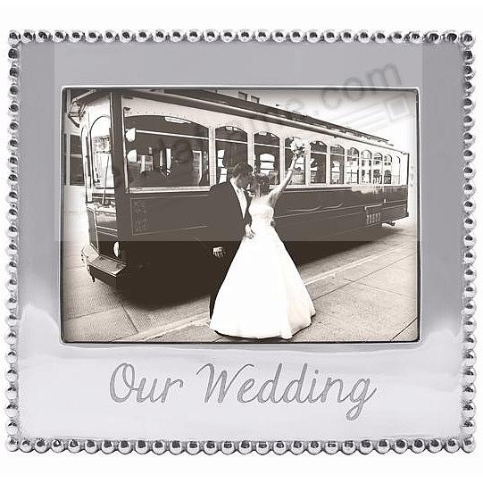 OUR WEDDING Statement frame crafted by Mariposa®