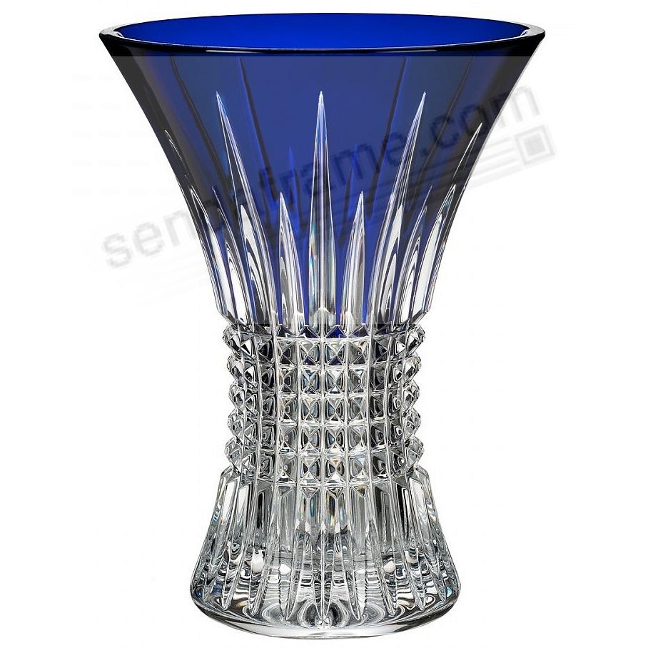 The Original LISMORE DIAMOND COBALT 8in Vase by Waterford®