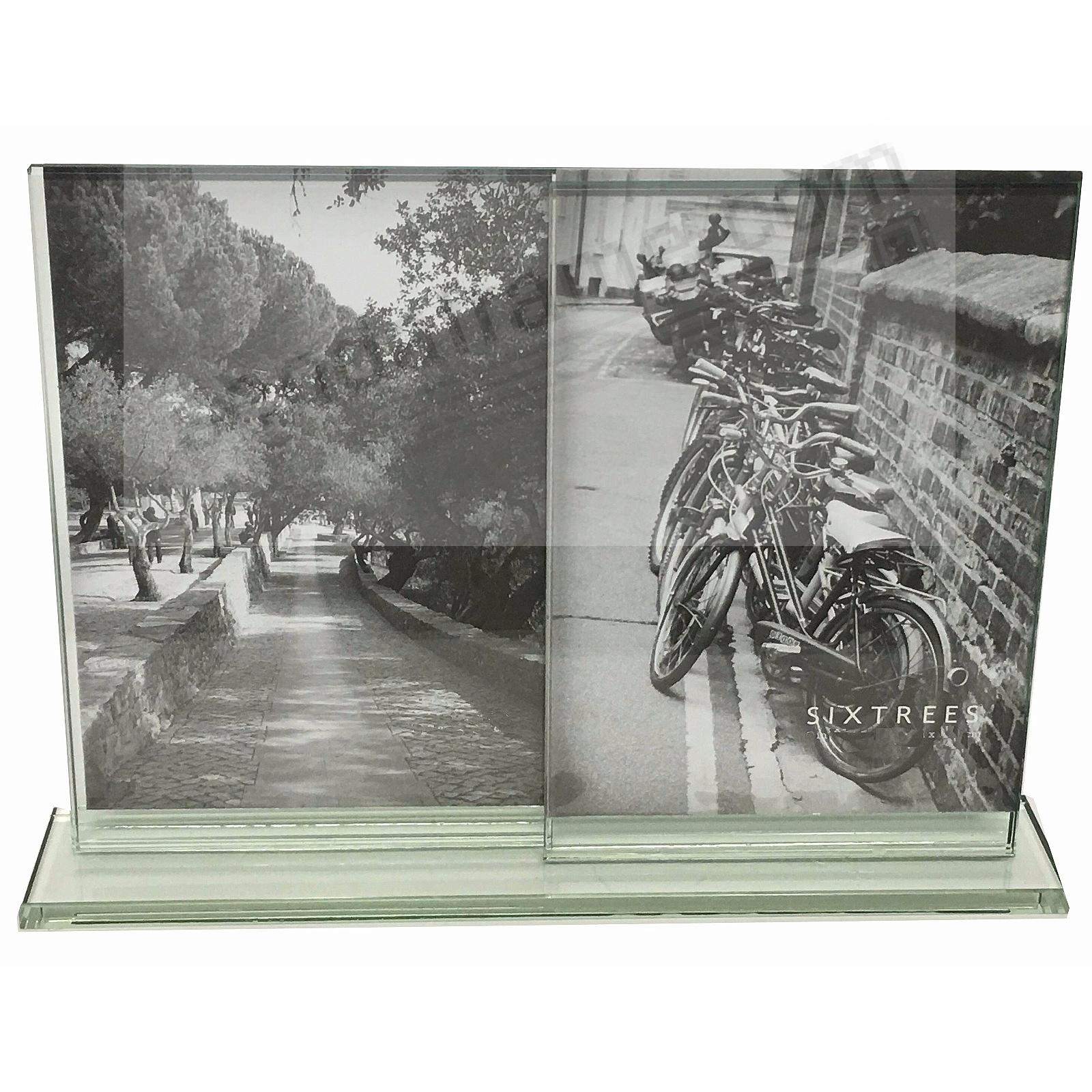 LELAND Double Photo 4x6 glass frame by Sixtrees®