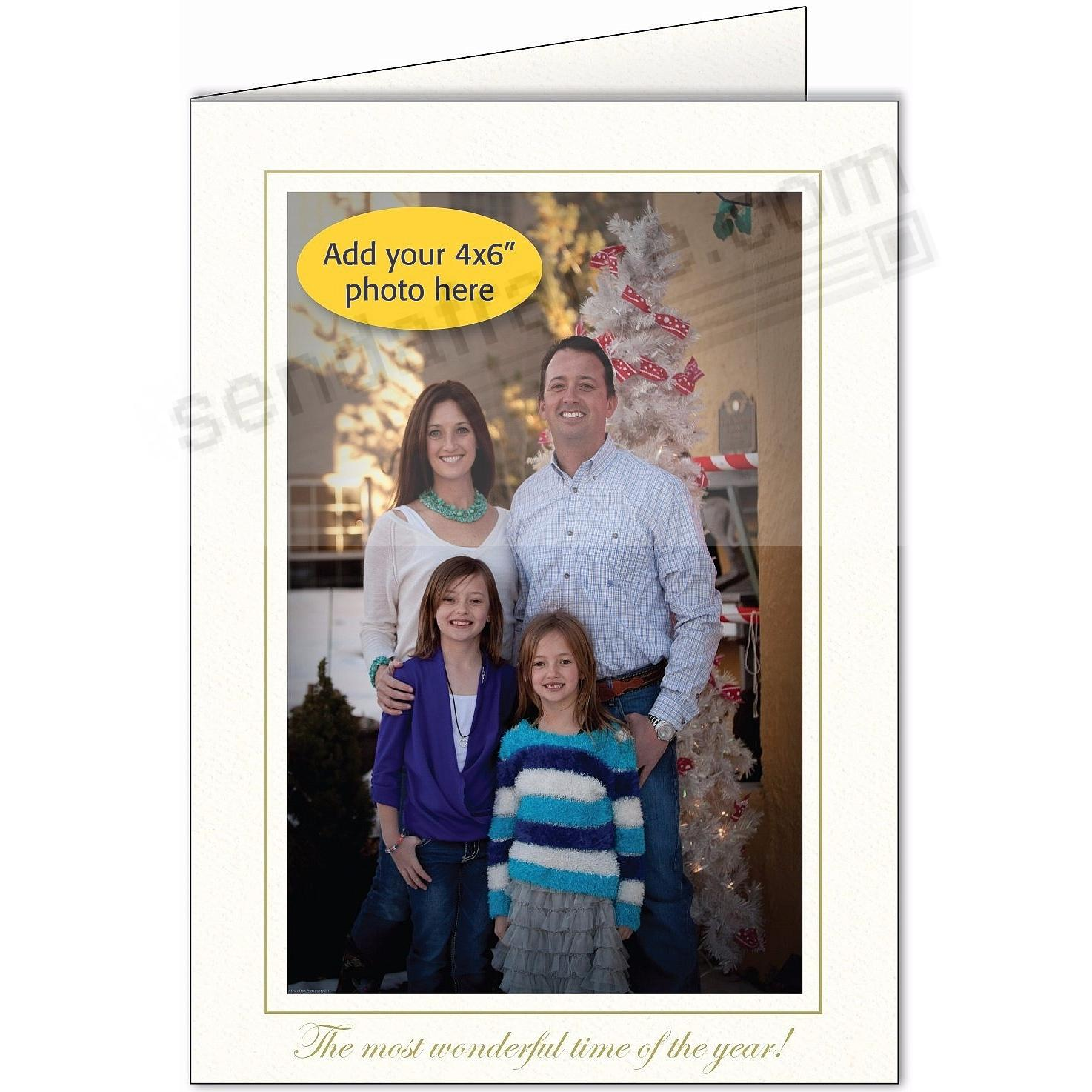 THE MOST WONDERFUL TIME OF THE YEAR Photo Insert Card (sold in 10s)