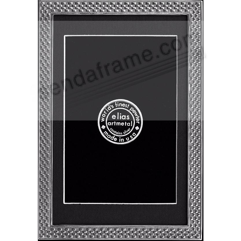 CHECKERBOARD luxe silvered fine pewter 4x6/3½x5½ by Elias Artmetal®