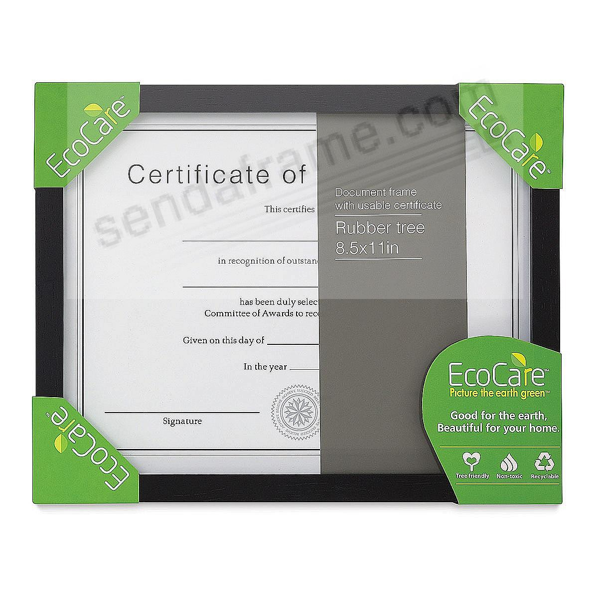 Rubberwood EcoCare CONTEMPORARY Black 11x8½ frame by Nielsen®