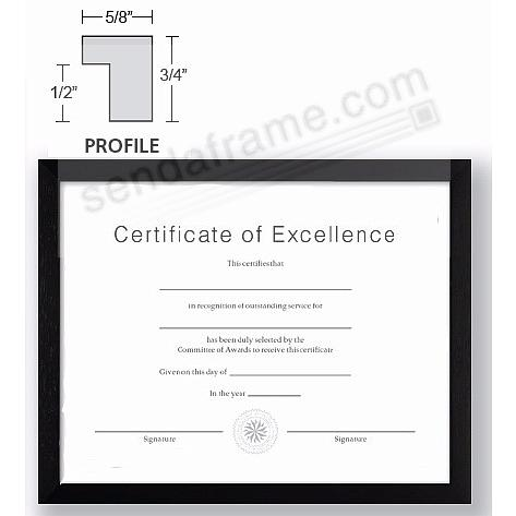 CONTEMPORARY Rubberwood Black 11x17 frame by EcoCare®