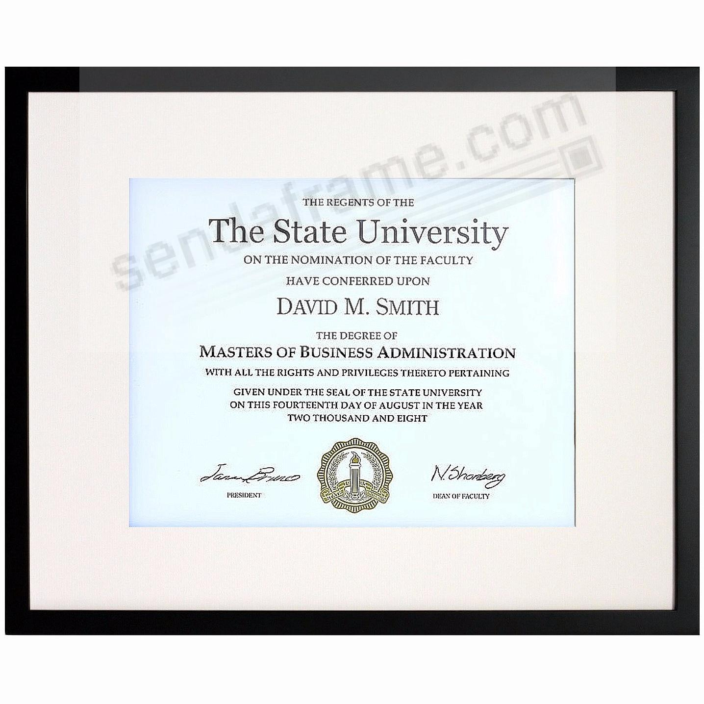 Matte-Black TRIBECA archival matted wood frame 11x14/8½x11 from ARTCARE® by Nielsen®