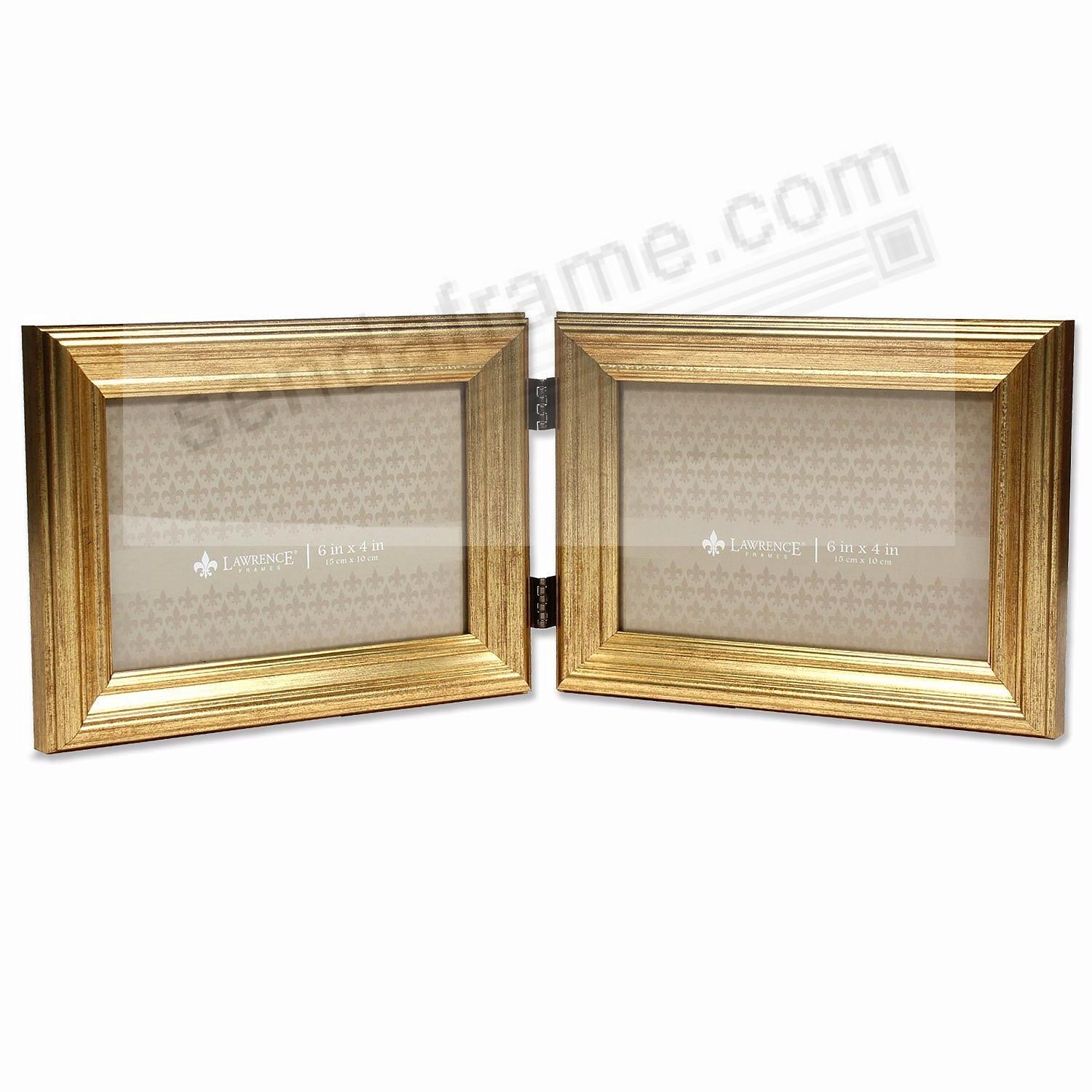 SUTTER DOUBLE Burnished Gold composite wood 4x6 frame by Lawrence®