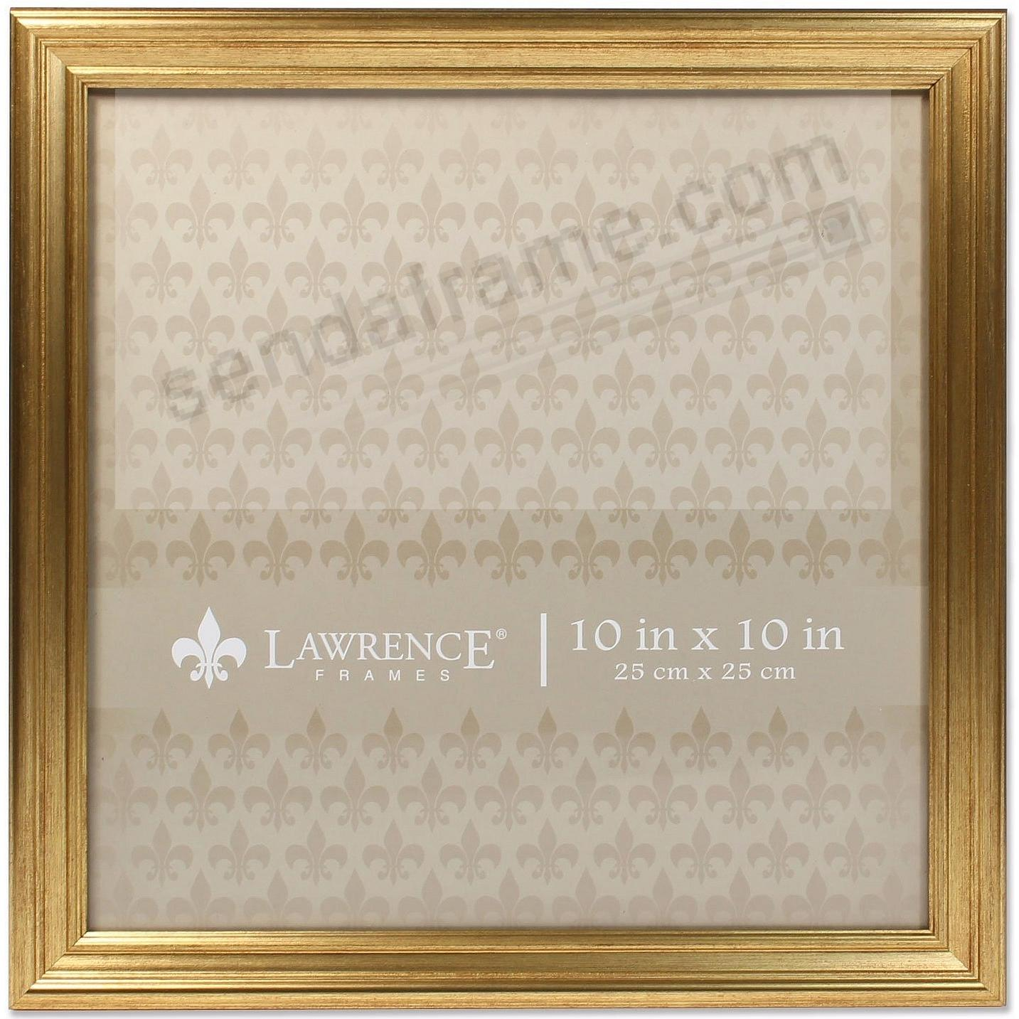 SUTTER Burnished Gold composite-wood 10x10 frame by Lawrence®