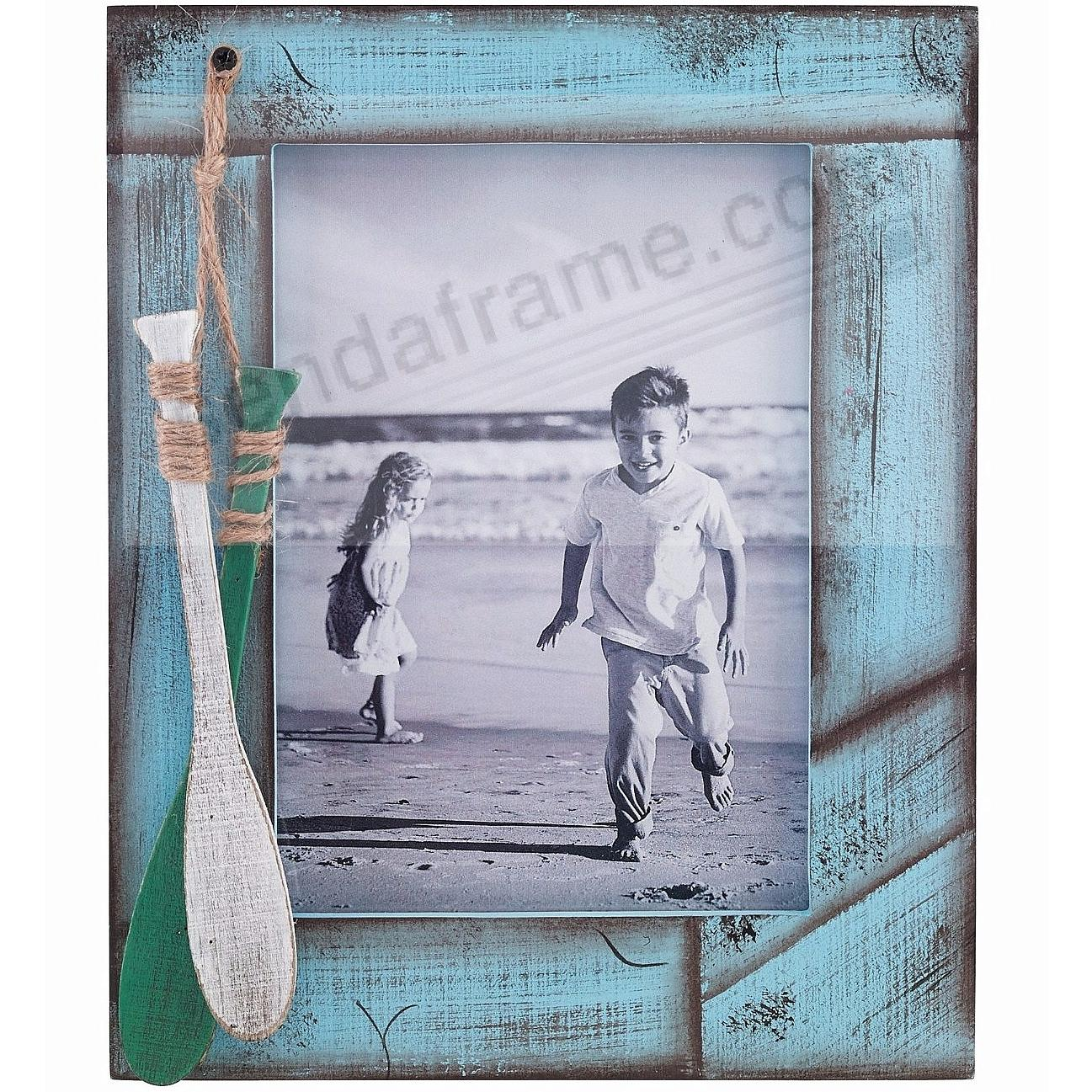 Weathered Blue with Oars Picture 5x7 Frame by Lawrence®