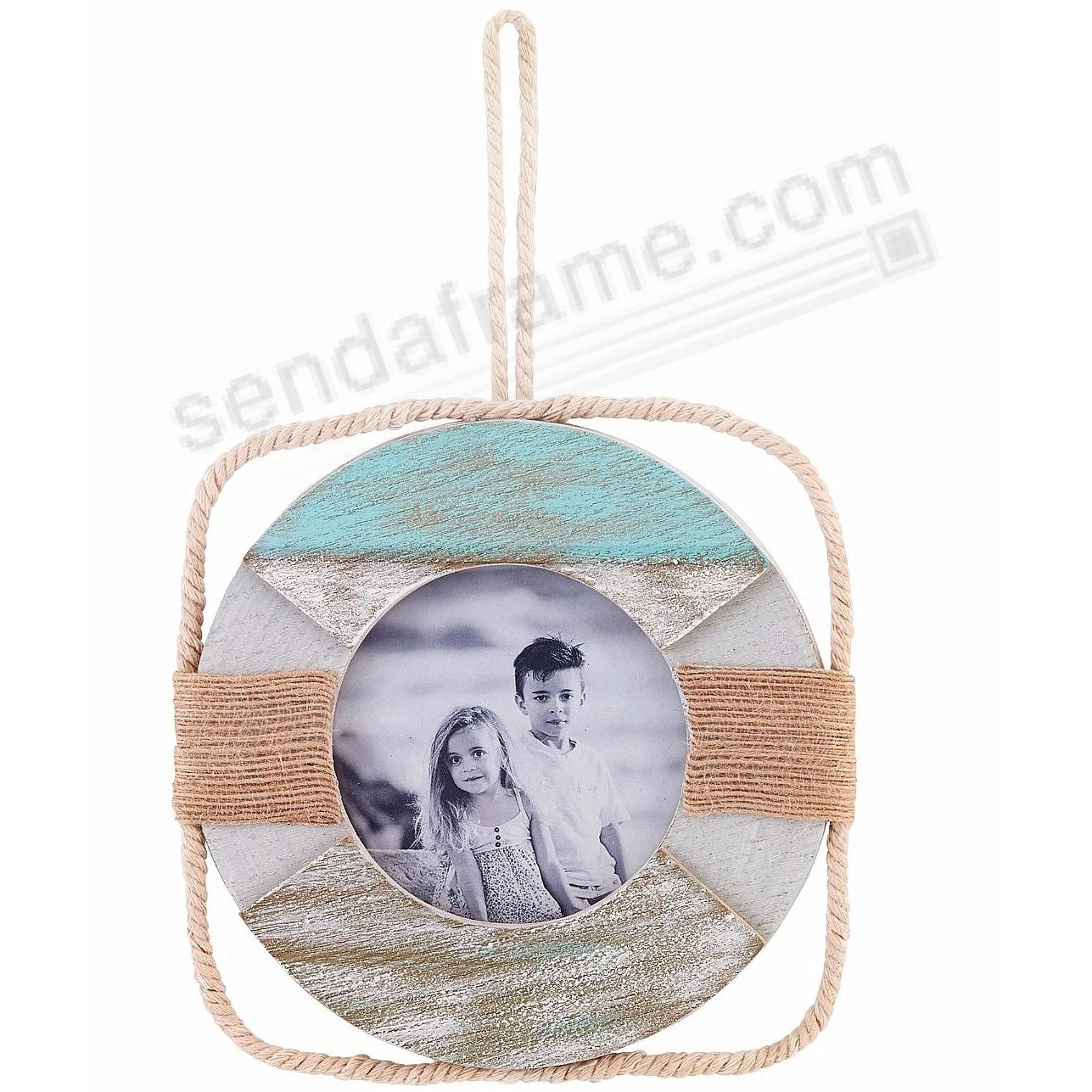 SANDY BEACH LIFE RING Picture 4x4 Frame by Lawrence®