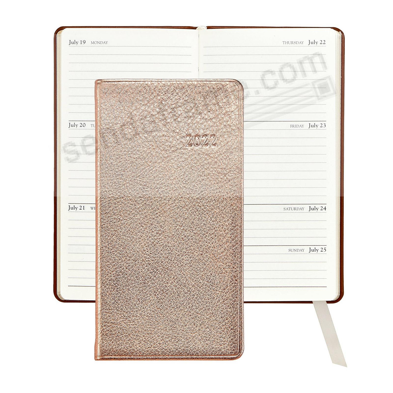 2020 METALLIC ROSE-GOLD 6-in Pocket Datebook in Fine Leather by Graphic Image™