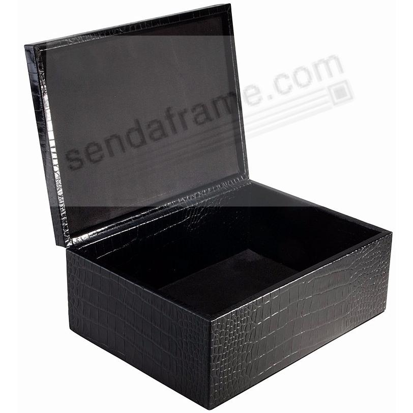 LARGE BOX CROCO-Leather BLACK by Graphic Image™