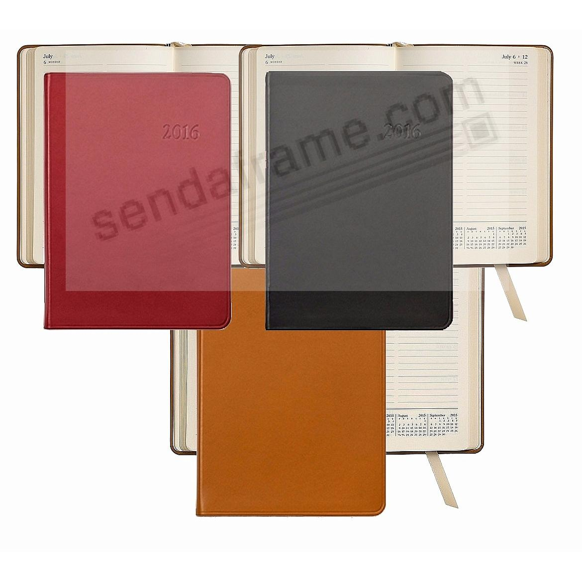 2016 ASSORTED COLORS Notebook Planner 7inch Fine Leather by Graphic Image™