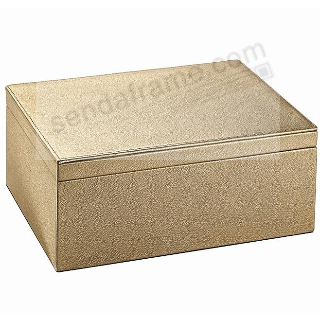 LARGE BOX GOLD Goatskin Fine Leather by Graphic Image™