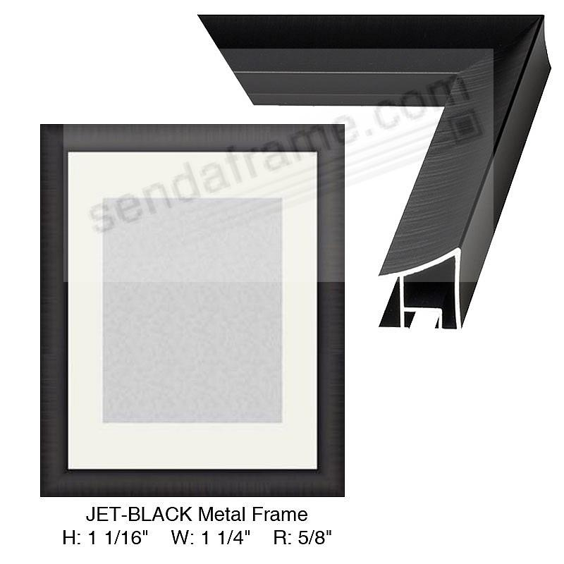 Custom-Cut™ WIDE JET-BLACK Metallic frame H:1-1/16 W:1-1/4 R:5/8