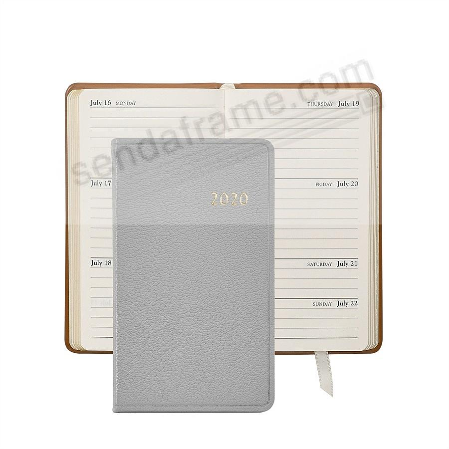 2017 GRAY 5-in Pocket Datebook Diary in Fine Leather by Graphic Image™