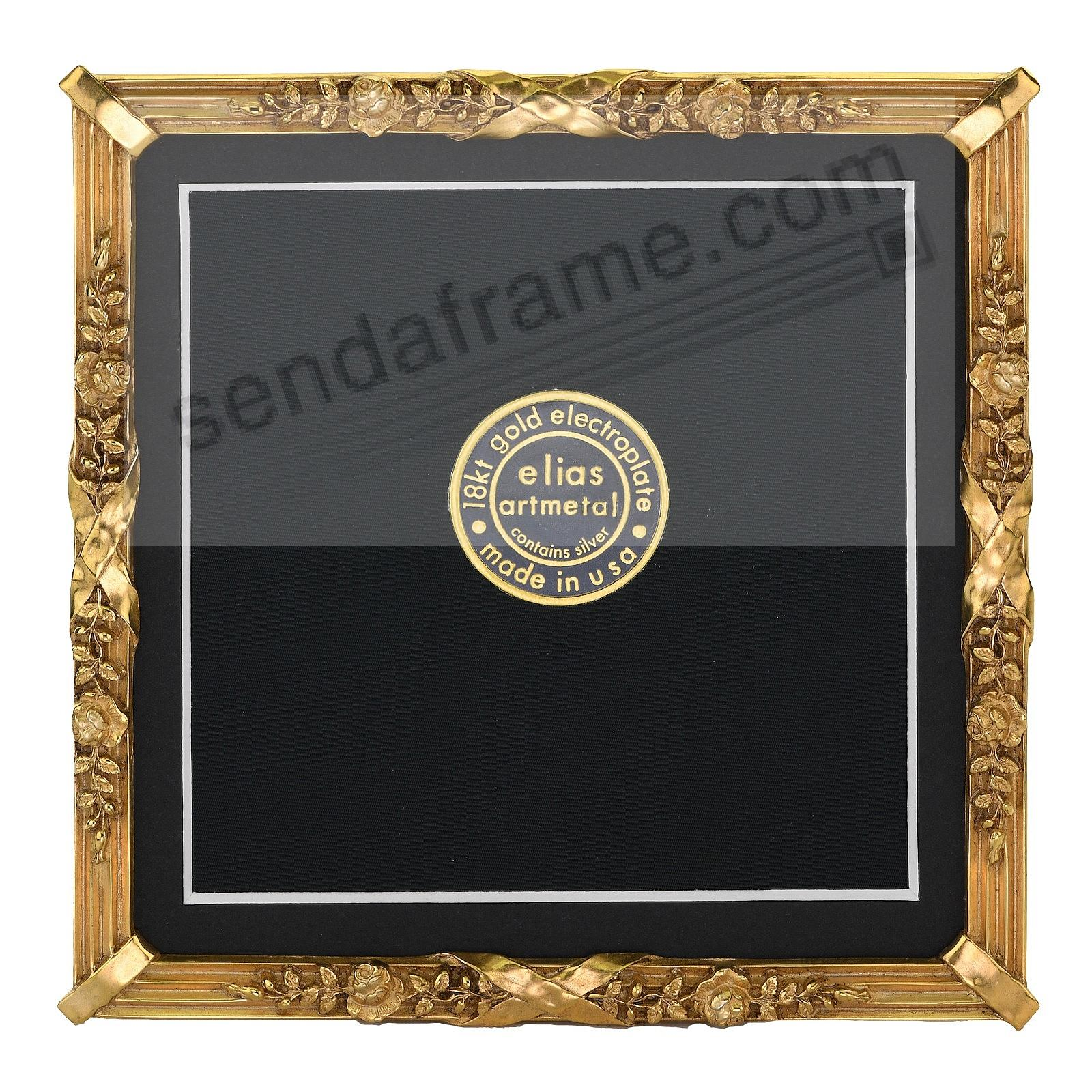 PETITE LOUIS Luxe 18kt Museum Gold over Fine Pewter 5x5 frame by Elias Artmetal®