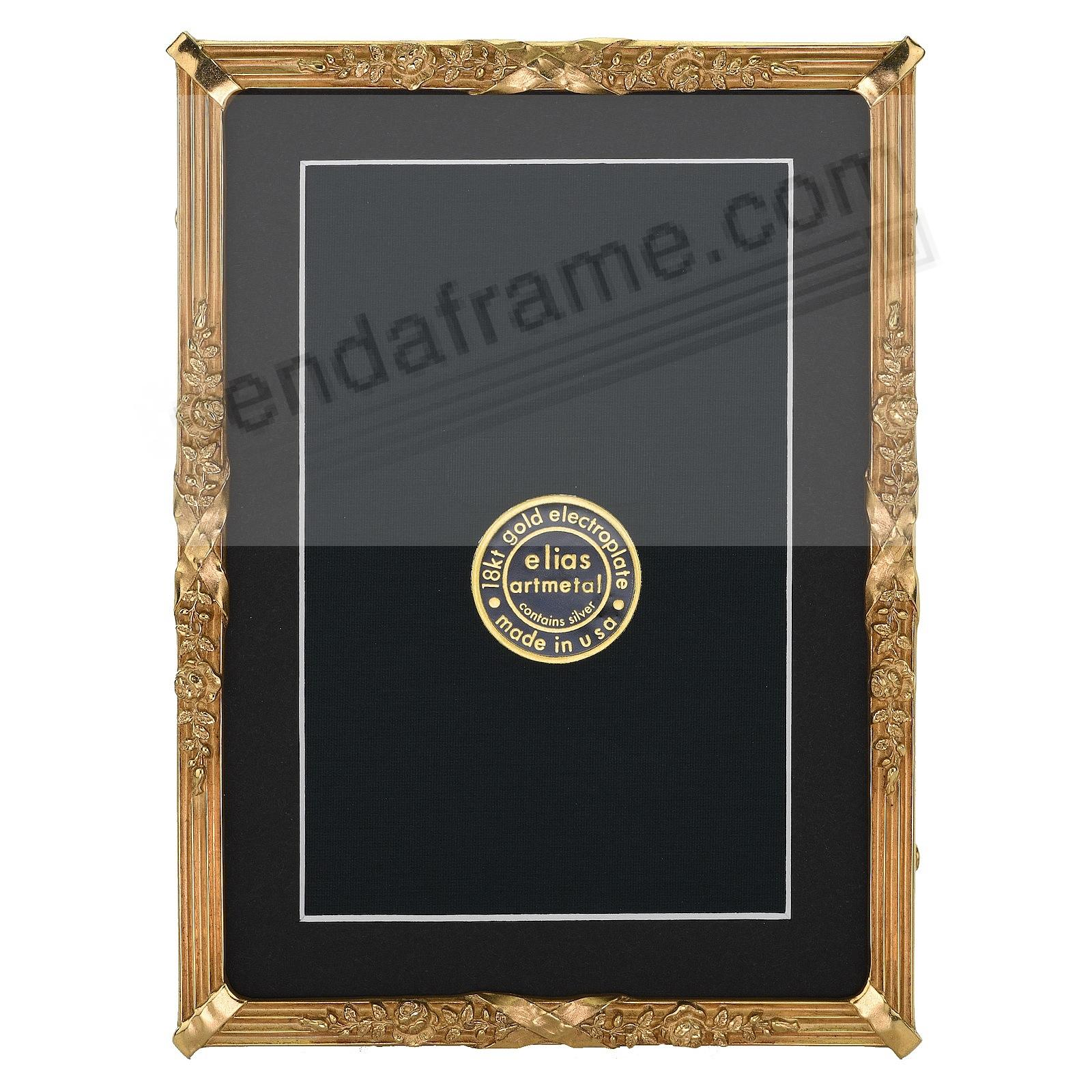 PETITE LOUIS Luxe 18kt Museum Gold over Fine Pewter 5x7/4x6 frame by Elias®